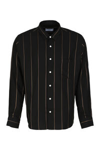Striped viscose shirt, Striped Shirts AMI man