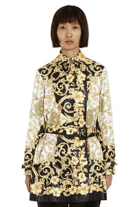Printed techno nylon trench coat, Raincoats And Windbreaker Versace woman