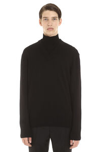 B-Curator virgin wool sweater, Turtleneck BOSS man