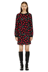 Logo print cotton sweatdress, Mini dresses Love Moschino woman