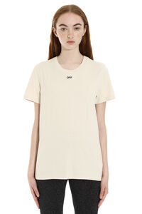 Crew-neck cotton T-shirt, T-shirts Off-White woman