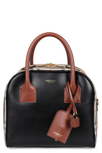Cube canvas and leather handbag, Top handle Burberry woman
