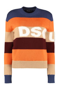 Striped wool pullover, Crew neck sweaters Dsquared2 woman