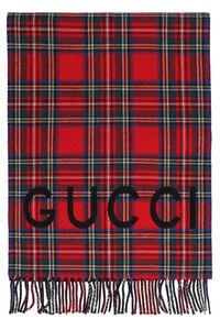 Double-face scarf with fringes, Scarves Gucci man