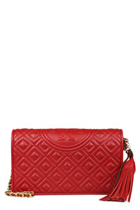 Fleming leather clutch, Clutch Tory Burch woman
