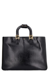 Leather tote, Tote bags Fendi woman