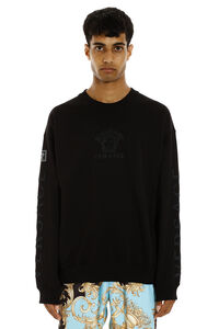Cotton crew-neck sweatshirt with logo, Sweatshirts Versace man