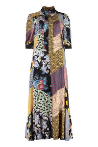 Floral patchwork dress, Printed dresses Prada woman