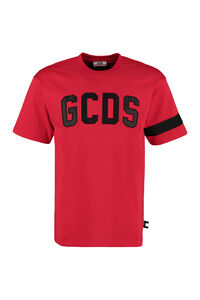 Logo patch cotton t-shirt, Short sleeve t-shirts GCDS man