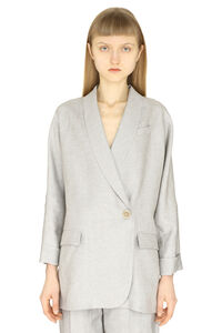 Single-breasted one button jacket, Blazers Brunello Cucinelli woman