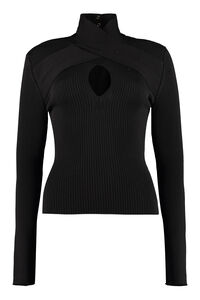 Knitted viscosa-blend top, Turtleneck sweaters MSGM woman