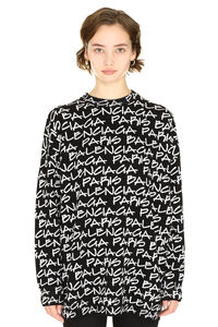 Crew-neck virgin wool sweater, Crew neck sweaters Balenciaga woman