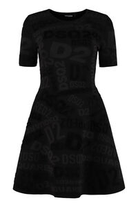 Jacquard knit dress, Mini dresses Dsquared2 woman