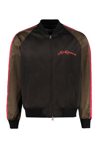 Embroidered satin bomber, Bomber jackets Alexander McQueen man