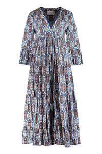 Jennifer Jane cotton long dress, Printed dresses La DoubleJ woman
