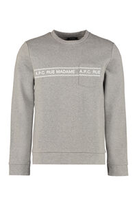 Rue Madame cotton sweatshirt, Sweatshirts A.P.C. man