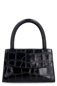 Printed leather mini-bag, Top handle BY FAR woman