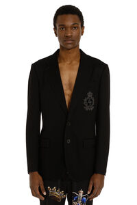 Single-breasted deconstructed jacket with two buttons, Single breasted blazers Dolce & Gabbana man