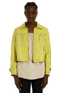 Esagerato crackled patent jacket, Casual Jackets Pinko woman