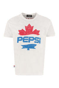 Printed cotton t-shirt - Dsquared2 X Pepsi, Short sleeve t-shirts Dsquared2 man