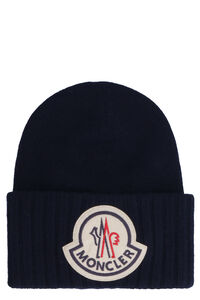 Knitted virgin wool hat, Hats Moncler man