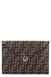 Leather flat pouch, Pouches Fendi woman