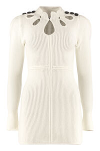Ribbed knit sheath dress, Mini dresses Self-Portrait woman