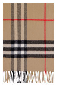 Checked cashmere scarf, Scarves Burberry man