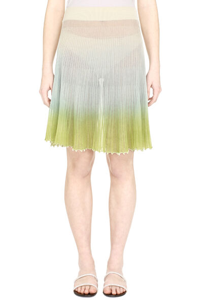 Pleated knitted skirt