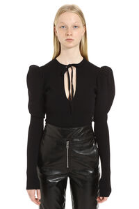 Ribbed knit bodysuit, Crew neck sweaters MSGM woman