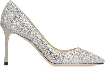 Romy glittered pointed pumps