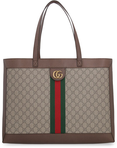 Ophidia GG supreme fabric tote bag
