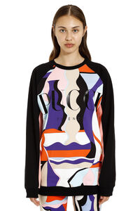 Printed cotton sweatshirt, Sweatshirts Emilio Pucci woman