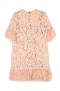 Floral pattern lace dress, Mini dresses Dolce & Gabbana woman