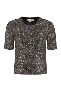 Knitted lurex top, Crew neck sweaters MICHAEL MICHAEL KORS woman
