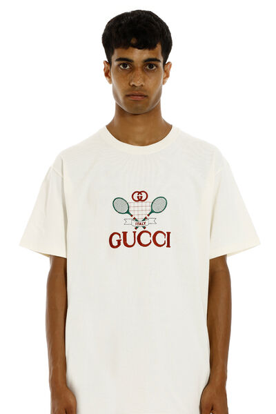 Logo embroidery cotton t-shirt