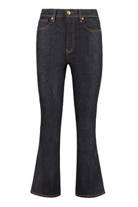 Cropped boot-cut jeans, Cropped Jeans Tory Burch woman