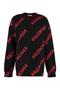 Jacquard sweater, Crew neck sweaters Balenciaga woman