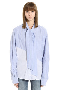 Striped stretch cotton shirt, Shirts Unravel Project woman